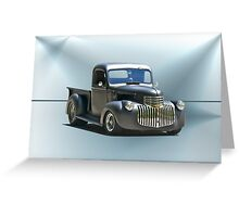1942 Chevy Pick-Up 'Black Satin' Greeting Card