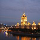 Moscow city of lights by freshairbaloon