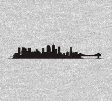 Brisbane Skyline - for light shirts One Piece - Long Sleeve