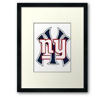Ny Yankees Ny Giants Mashup Framed Print