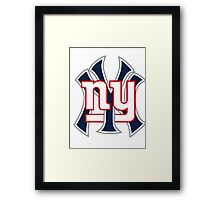Ny Yankees Ny Giants Mashup Framed Print
