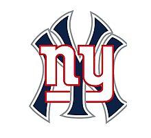 Ny Yankees Ny Giants Mashup Photographic Print