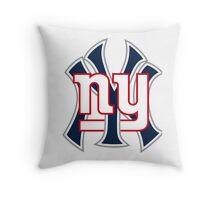 Ny Yankees Ny Giants Mashup Throw Pillow