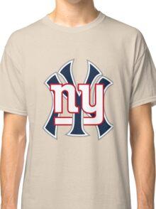 Ny Yankees Ny Giants Mashup Classic T-Shirt
