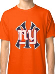 Ny Yankees Ny Giants Mashup Classic T-Shirt