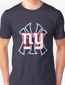 Ny Yankees Ny Giants Mashup T-Shirt
