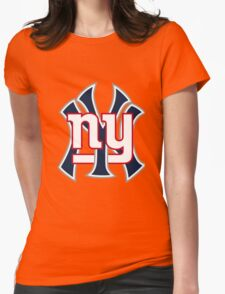 Ny Yankees Ny Giants Mashup Womens Fitted T-Shirt