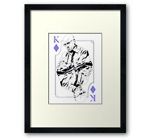 King of Blue Diamonds Framed Print