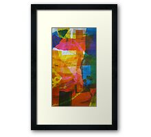 Screen Print of miscellaneous items Framed Print