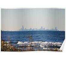 Chicago Skyline across Lake Michigan - 1 Poster