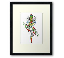 Tattoo Dagger Framed Print