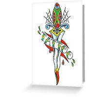 Tattoo Dagger Greeting Card