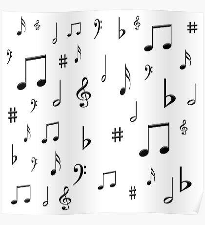 Music Notes & Symbols Poster