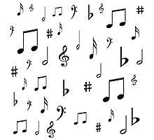 Music Notes & Symbols Photographic Print