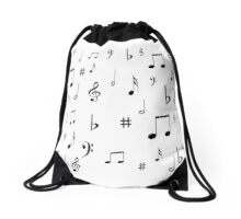 Music Notes & Symbols Drawstring Bag