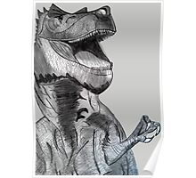 Laughing Dinosaur Poster