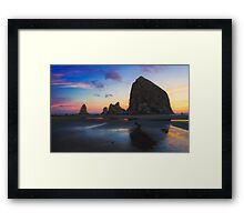 Cannon Beach Seastacks Framed Print