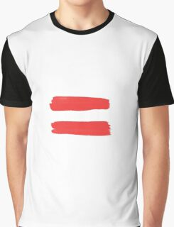 Equality Sign Paint Red Graphic T-Shirt