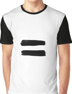 Equality Paint Black Graphic T-Shirt