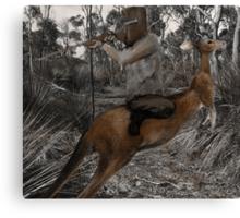 Kelly Myth Kangaroo Canvas Print
