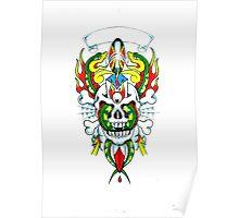 Snakes & Skull Poster