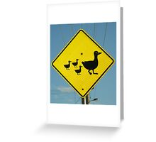 Mother and Babies Crossing Greeting Card