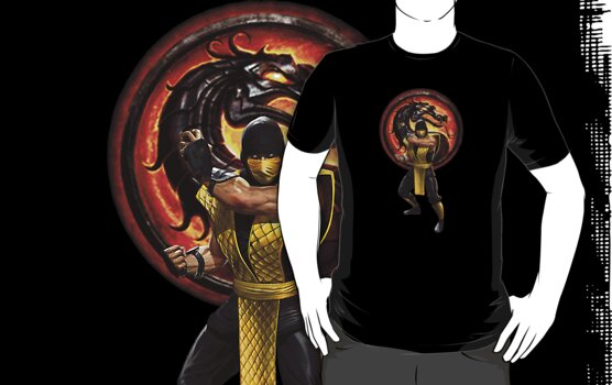Mortal Kombat Scorpion Shirt by Bergmandesign