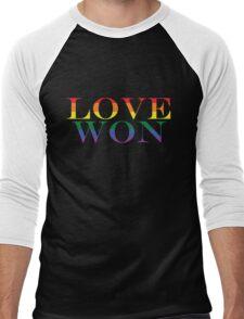 LOVE WON (rainbow) Men's Baseball ¾ T-Shirt