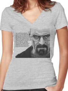 Breaking Bad - Walt Ozymandias Women's Fitted V-Neck T-Shirt