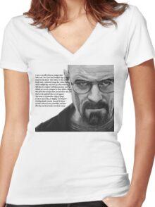 Breaking Bad - Walt Ozymandias Women's Fitted V-Neck T-Shirt