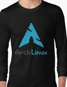Pixelated ArchLinux Long Sleeve T-Shirt