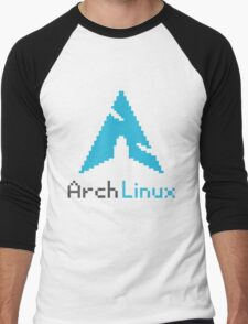 Pixelated ArchLinux Men's Baseball ¾ T-Shirt
