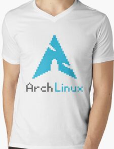 Pixelated ArchLinux Mens V-Neck T-Shirt