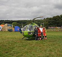 Air Ambulance at 35th Bristol International Balloon fiesta by Keith Larby