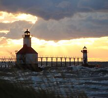 Sunsets Along Lake Michigan by Debbie Mueller