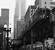 El in Fog Chicago Photograph by gurso27
