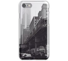 El in Fog Chicago Photograph iPhone Case/Skin
