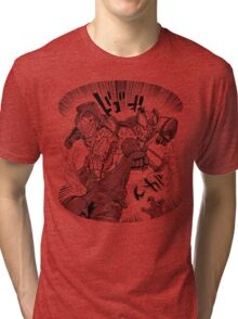 Double Rocket Punch!! Tri-blend T-Shirt