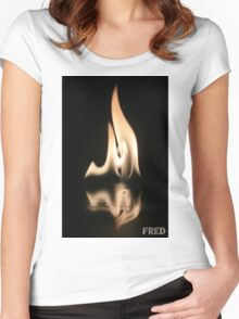 Fire on Glass - FredPereiraStudios.com_Page_14 Women's Fitted Scoop T-Shirt