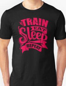 Train Eat Sleep Repeat Gym T-Shirt