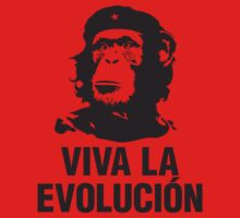 Monkey Che Guevara : Viva la Evolucion - Black by SpaceRedShirt