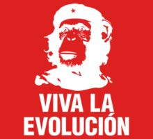 Monkey Che Guevara : Viva la Evolucion - White by SpaceRedShirt