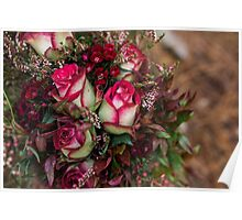 Two Tone Roses Poster