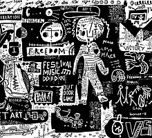 Peace, friendship, freedom, art by Studio79