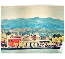 The magical town of Chania, Crete, Greece Poster