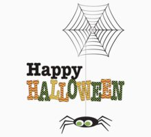 Happy Halloween Spider & Web by Daisylin
