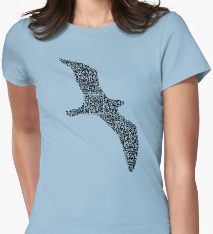 QR Seagull Womens Fitted T-Shirt