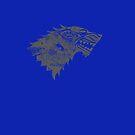 House Stark Worn Blue by Greg Brooks