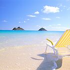 Beach Chair at Lanikai by printscapes