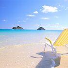 Beach Chair at Lanikai by printscapes